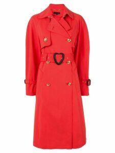 Escada heart belt trench coat - Orange