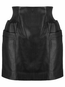 Fleur Du Mal panelled mini skirt - Black