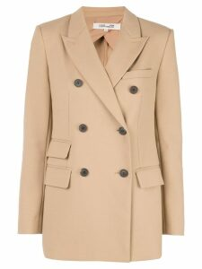 Diane von Furstenberg double breasted blazer - Brown