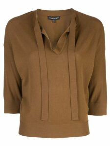 Narciso Rodriguez tie neck jumper - Brown