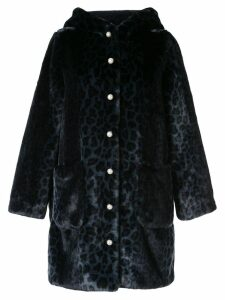 Shrimps leopard hooded coat - Blue