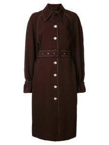 Stine Goya contrast stitching trench coat - Red