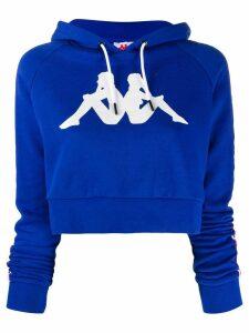 Kappa cropped hoodie - Blue