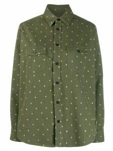 Saint Laurent star flap pockets shirt - Green