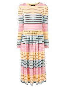 Stine Goya Joel striped midi dress - Pink