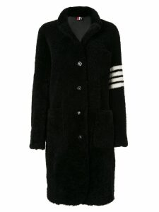 Thom Browne reversible 4-Bar sack overcoat - Black