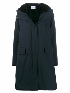 Aspesi hooded midi coat - Blue