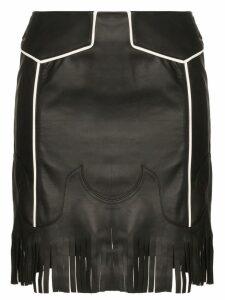 Skiim Gibson fringed mini skirt - Black