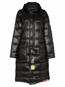 R13 x Brumal padded parka coat - Black