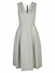 Narciso Rodriguez flared V-neck dress - White