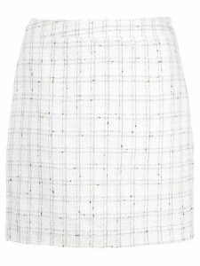 CALLIPYGIAN check short skirt - White