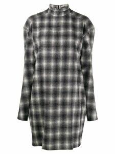 Nina Ricci checked mini dress - Grey