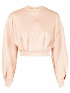 Fila crew neck cropped sweatshirt - Pink