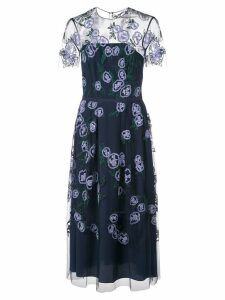 Carolina Herrera sheer-panel midi dress - Blue