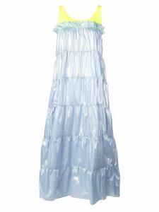 Sandy Liang Pianos tiered midi dress - Blue