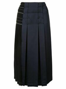 Cédric Charlier panelled pleated skirt - Black