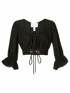 Alice Mccall gathered cropped blouse - Black
