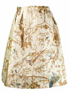 Pierre-Louis Mascia flared animal print skirt - Neutrals