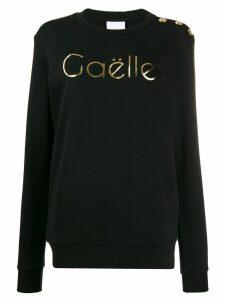 Gaelle Bonheur metallic logo jumper - Black