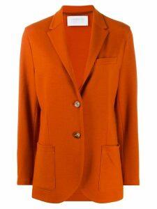 Harris Wharf London long sleeve knitted blazer - ORANGE