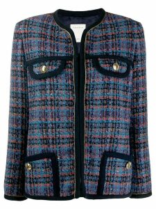 Sandro Paris fitted tweed blazer - Blue