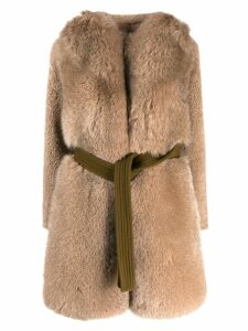Blancha oversized coat - NEUTRALS