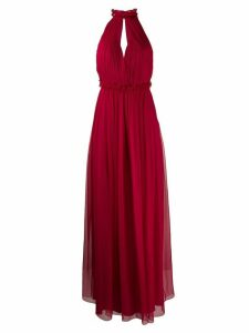 Alberta Ferretti halterneck long dress - Red