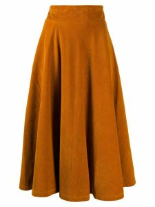 Roberto Collina corduroy midi skirt - Orange