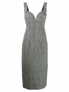 Ermanno Scervino stud-embellished houndstooth dress - Silver