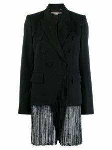 Stella McCartney double-breasted fringed jacket - Black
