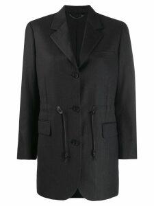 Salvatore Ferragamo drawstring blazer - Grey