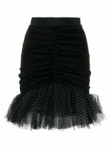 Brognano short ruffled skirt - Black