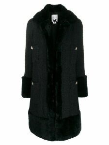 Edward Achour Paris single-breasted fitted coat - Black