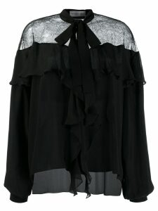 Faith Connexion lace-panelled blouse - Black