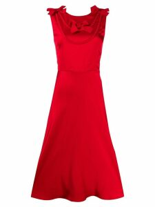 Boutique Moschino V-back midi dress - Red