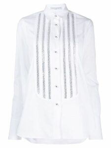 Ermanno Scervino rhinestone-embellished long-sleeved shirt - White