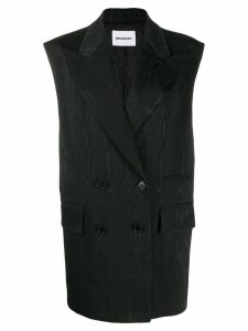 Brognano long double-breasted waistcoat - Black