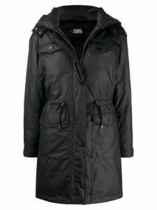 Karl Lagerfeld Technical hooded coat - Black