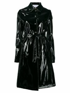 Paco Rabanne glossy trench coat - Black