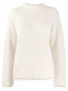 3.1 Phillip Lim Bouclé turtle neck sweater - White