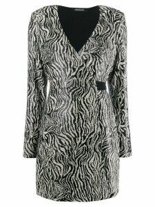Andamane sequinned wrap dress - Black
