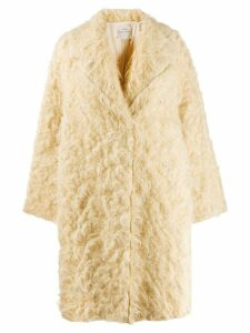 Forte Forte fuzzy oversized coat - Yellow