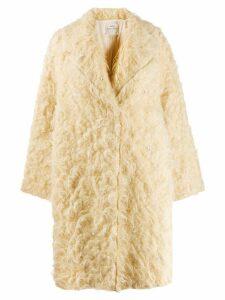 Forte Forte fuzzy oversized coat - Yellow