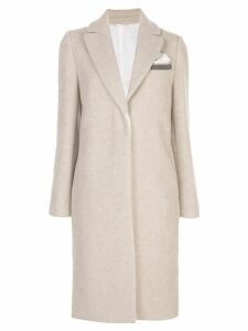 Brunello Cucinelli single-breasted midi coat - Neutrals