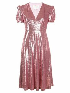 HVN sequinned midi dress - PINK