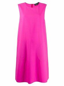 Gianluca Capannolo sleeveless flared dress - Pink