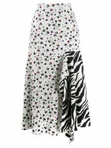 Dorothee Schumacher floral print midi skirt - White