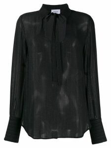 Dondup striped relaxed-fit blouse - Black