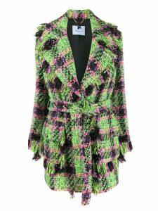 Blumarine neon tartan coat - Green