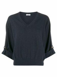 Brunello Cucinelli tab sleeve jumper - Blue